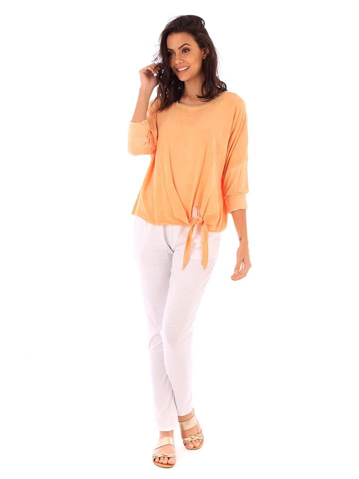100% Coton Shirt in Orange