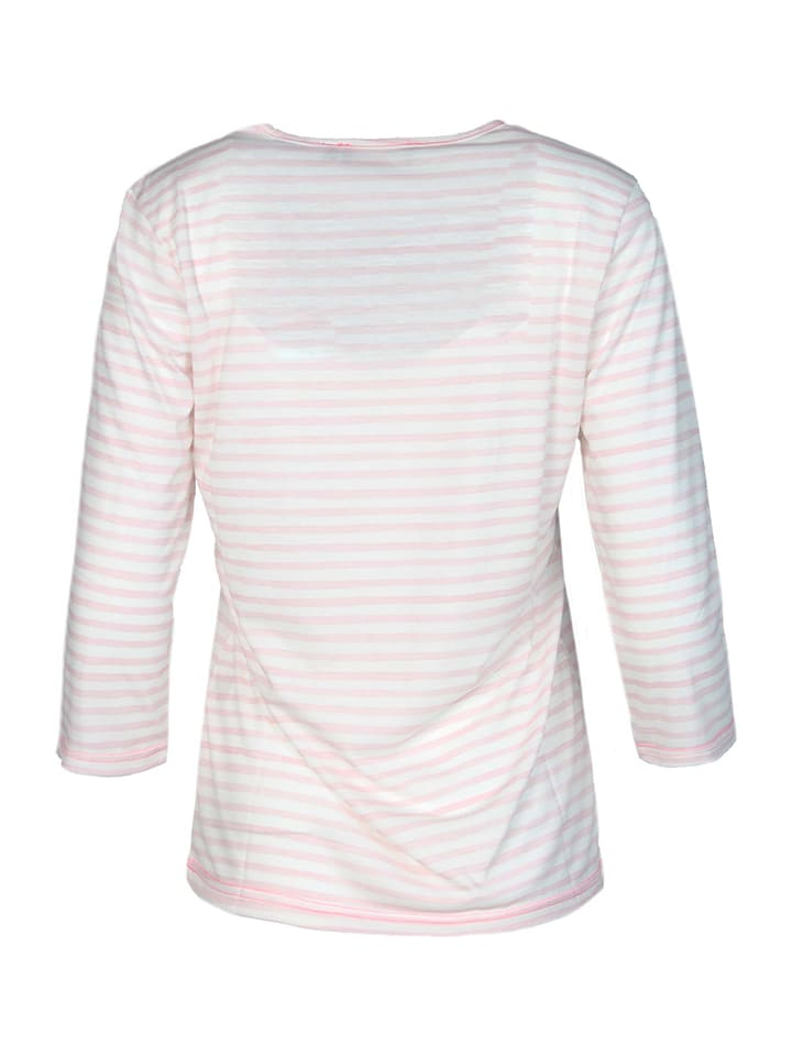 "Zwillingsherz Shirt ""Eileen"" in Rosa/ Wei"