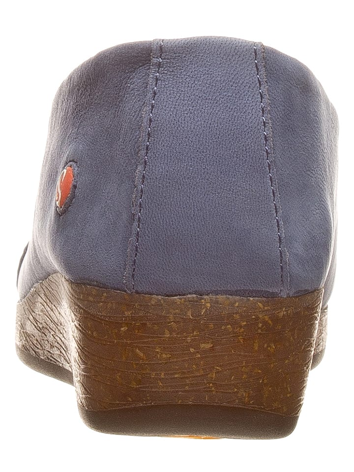 Softinos Leder-Slipper in Blau