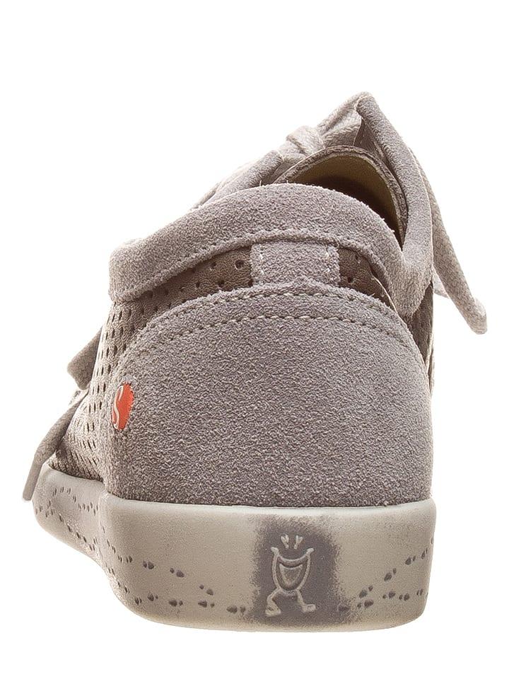 Softinos Leder-Sneakers in Taupe/ Grau