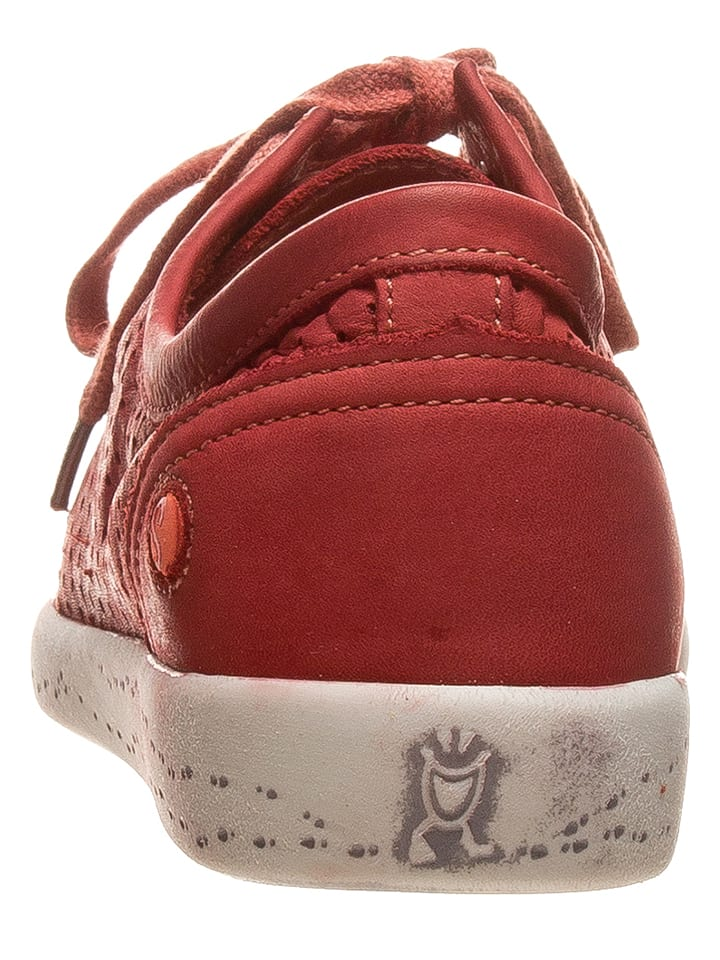 Softinos Leder-Sneakers in Rot