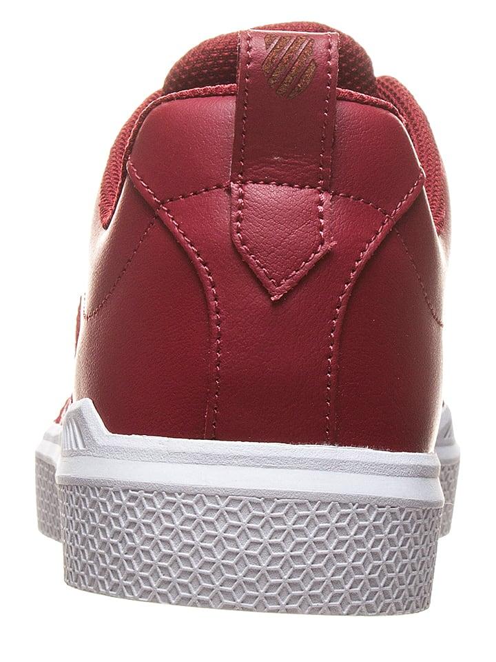 """K-SWISS Leder-Sneakers """"Donovan"""" in Blau/ Rot/ Wei"""