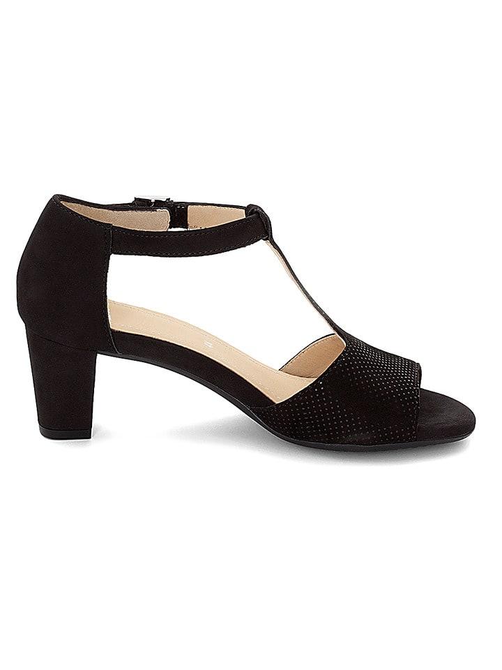 "Ara Shoes Leder-Sandaletten ""Massa"" in Schwarz"