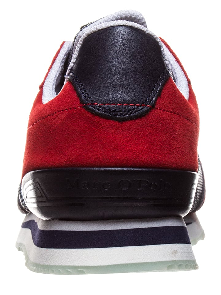 Marc O'Polo Shoes Sneakers in Grau/ Rot