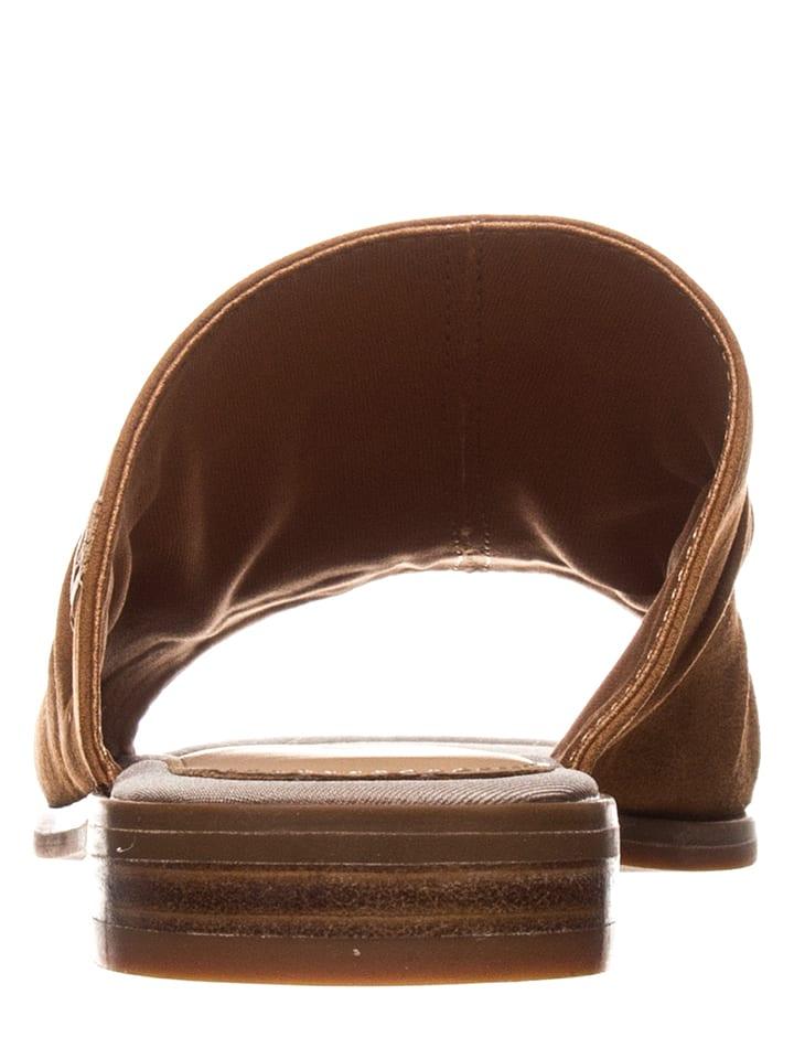 Marc O'Polo Shoes Leder-Pantoletten in Cognac