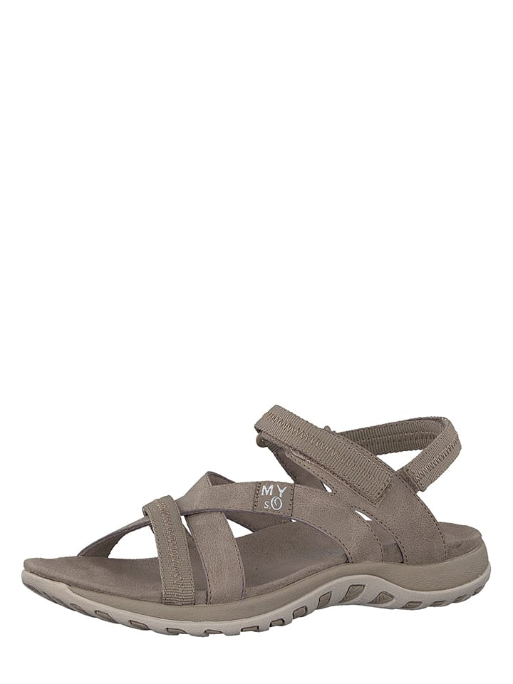 S. Oliver Sandalen in Taupe