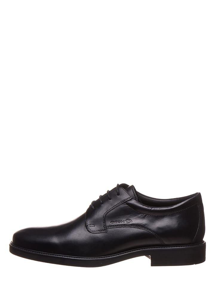 Outlet Chaussures Geox À Brandolf Cuir Limango Noir Lacets En fP01PZqS