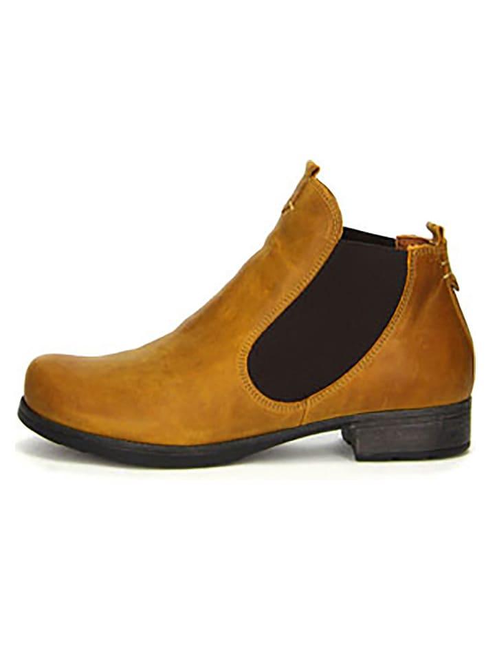 Think Cuir Marron En Limango Clair Boots Chelsea Outlet 8wqFCTA8