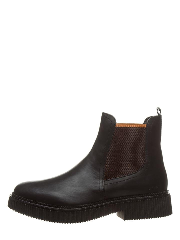 limango cuir ESPRIT chelsea Outlet Nicole noir Boots en q66xtwFC0