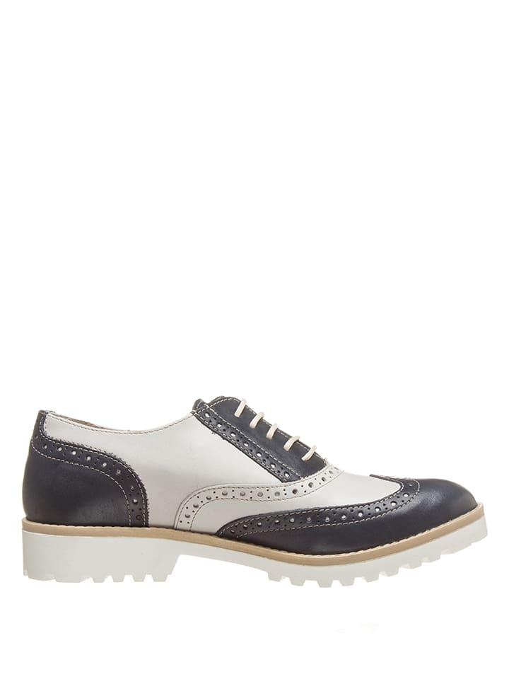 Chaussures Cuir Lacets Blancbleu En Bata FoncéOutlet À Limango wvNm80On