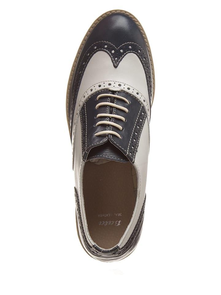 À En Lacets Chaussures Blancbleu Bata FoncéOutlet Limango Cuir thrsdCQ