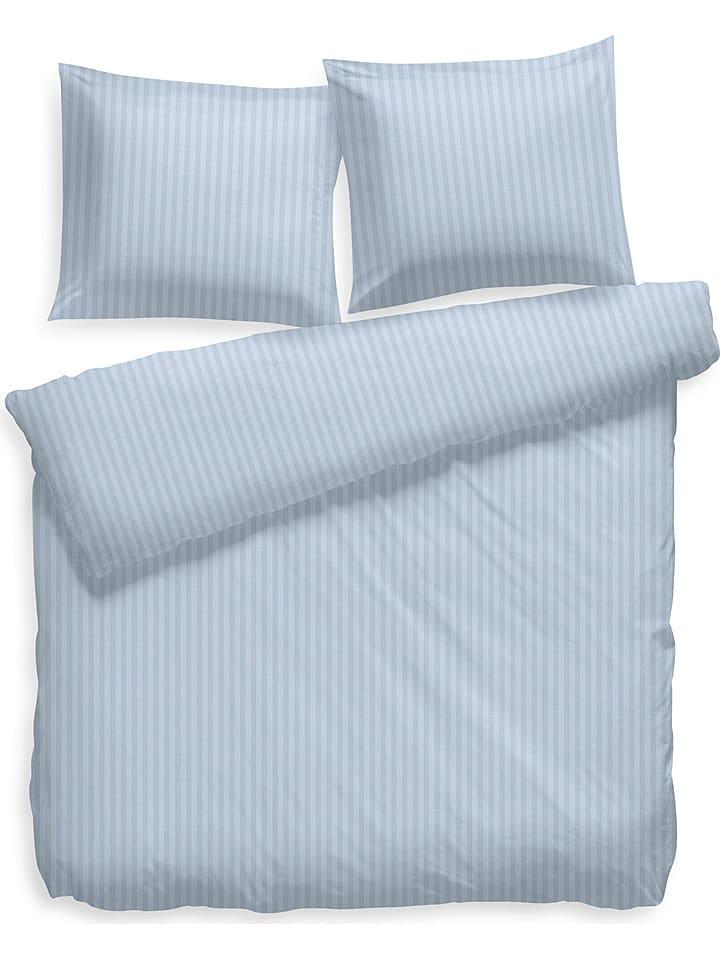 Hnl Satin Bettwäsche Set Uni Stripe In Eisblau Günstig Kaufen