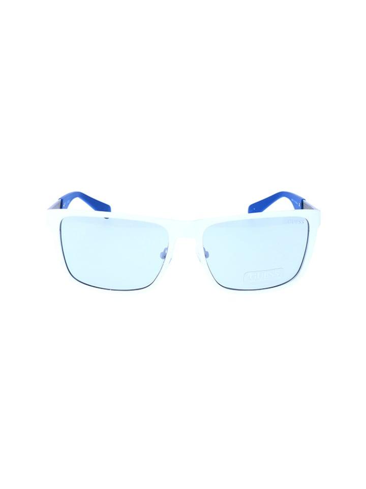 profiter de la livraison gratuite haut de gamme pas cher design professionnel Lunettes de soleil - homme - blanc/bleu