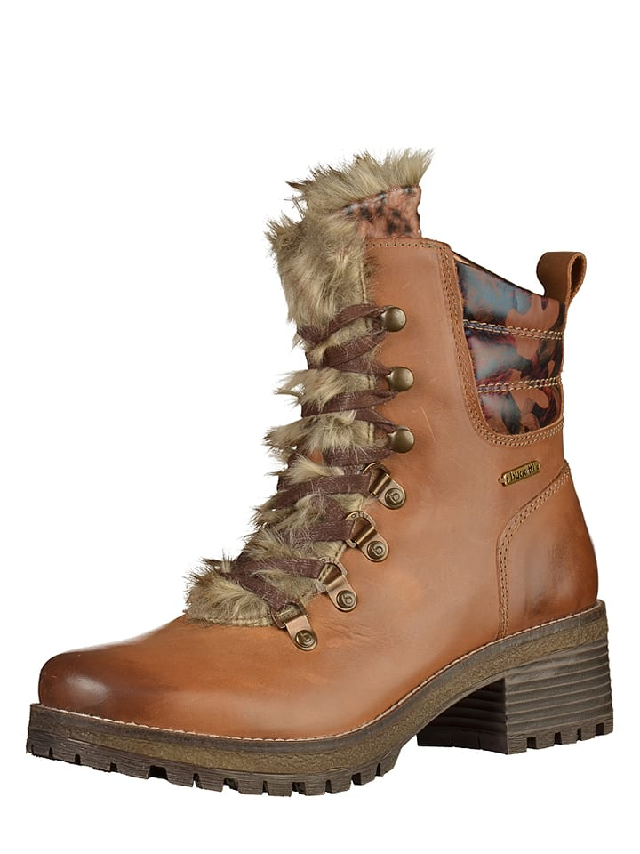 low priced 565e0 b7cad Leder-Boots in Hellbraun