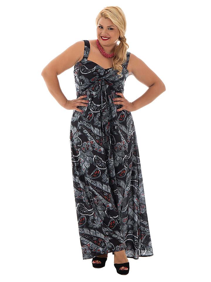 best website 2d603 f642f Kleid in Schwarz/ Weiß/ Rot