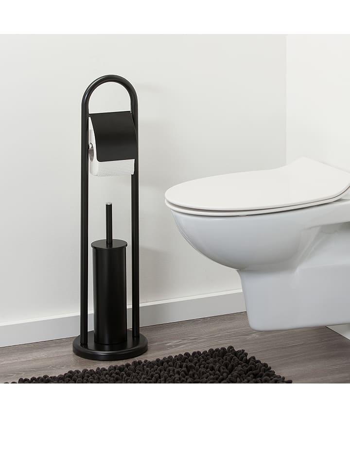 Favorit Sealskin Toilettenpapierhalter mit WC-Bürste in Schwarz - (H)70,5 ZH28