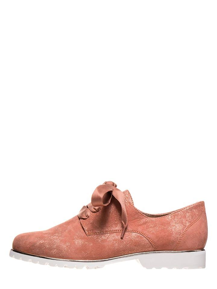 Caprice Leder Schnürschuhe in Rot günstig kaufen   limango