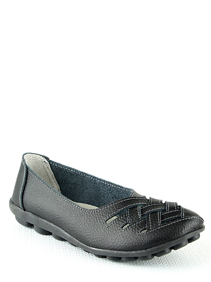 low priced cc1bd 28d70 Leder-Ballerinas in Schwarz