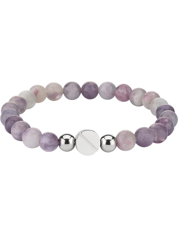kommt an wie man serch ästhetisches Aussehen Perlen-Armband in Flieder/ Grau