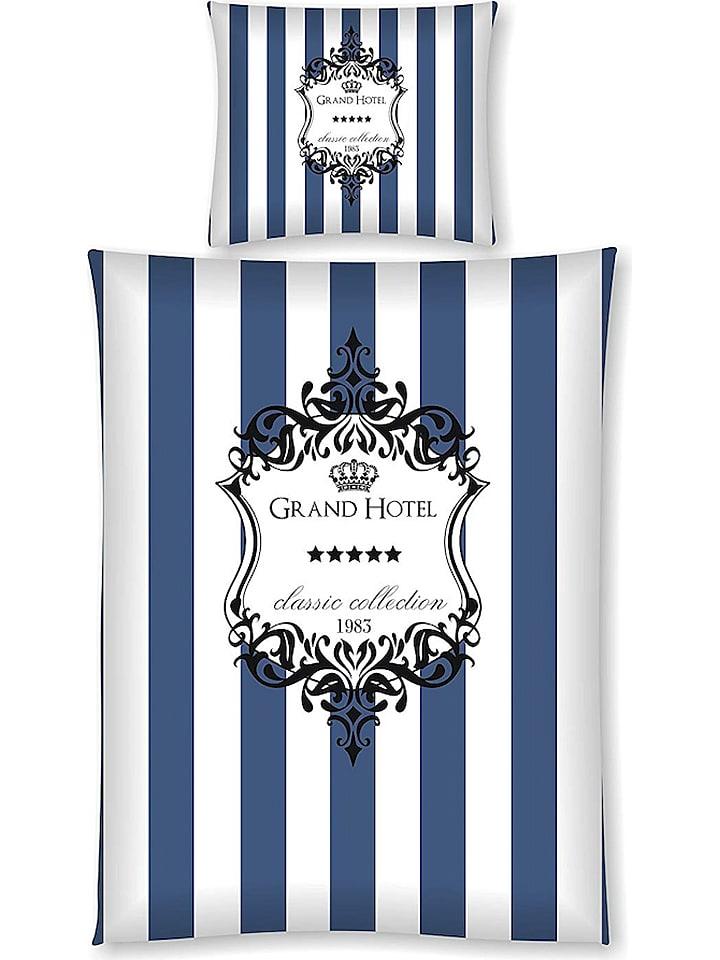Day Dream Bettwäsche Set Grand Hotel In Blau Weiß Günstig Kaufen