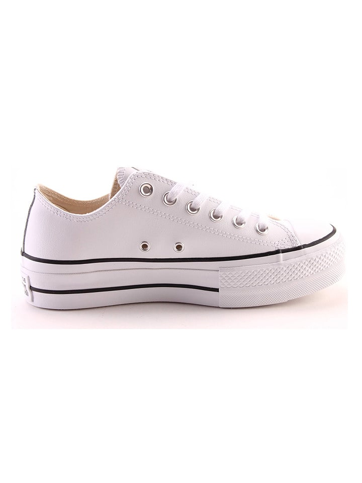 finest selection 723ca d0c45 Leder-Sneakers in Weiß