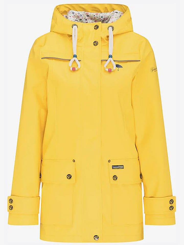 Regenparka in Gelb