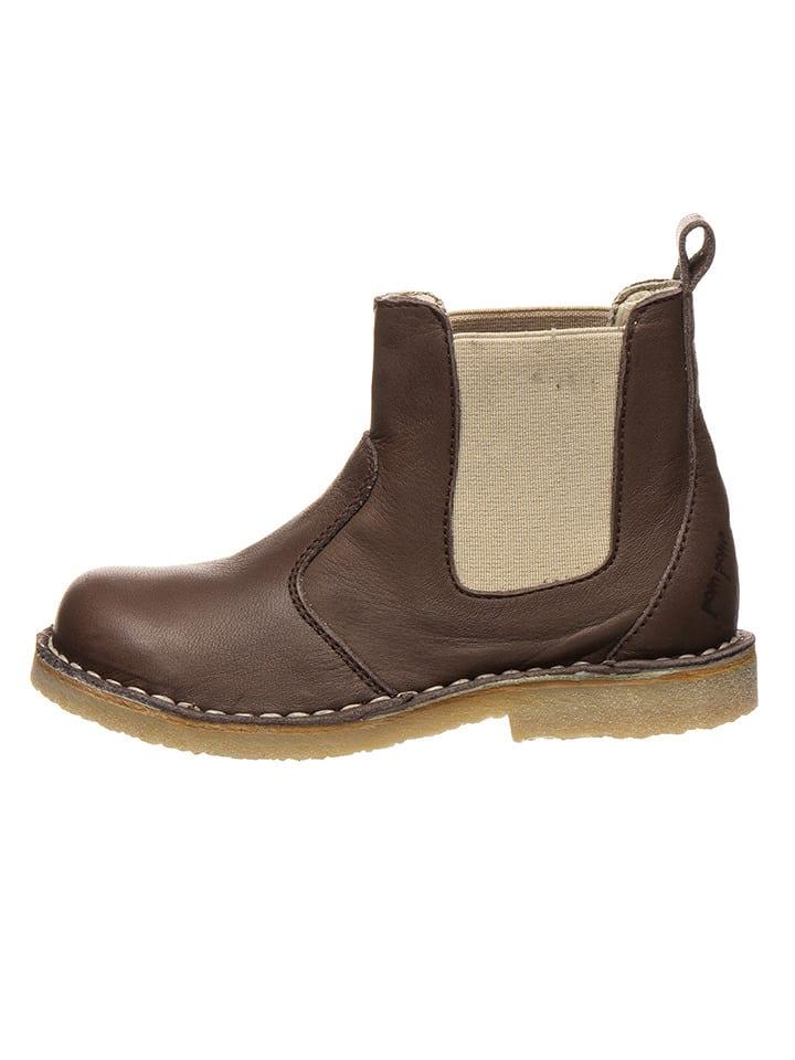 Sonderteil am besten bewerteten neuesten Original Leder-Chelsea-Boots in Braun/ Beige