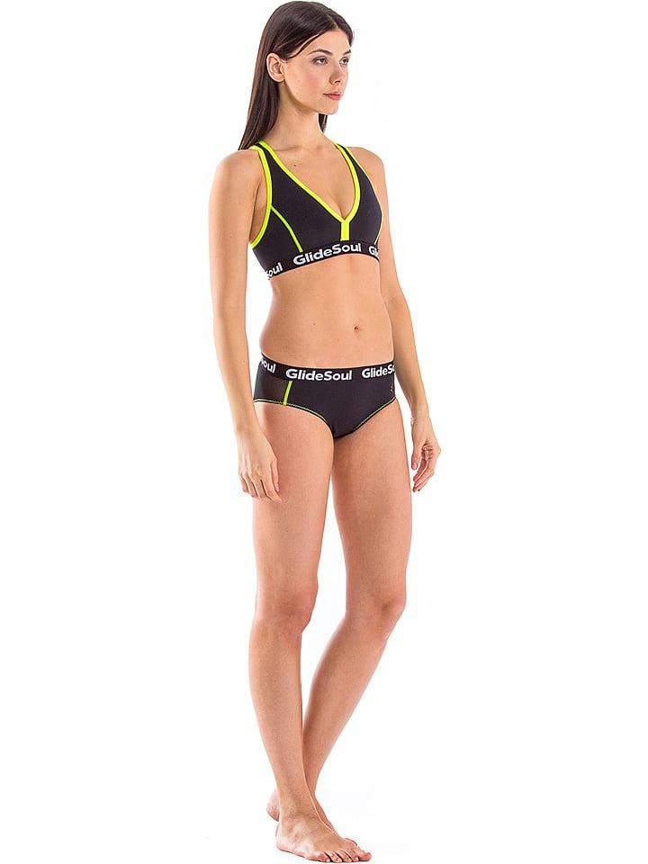 92e8331d46f3b Glide Soul Bikini-Oberteil in Schwarz/ Gelb günstig kaufen | limango