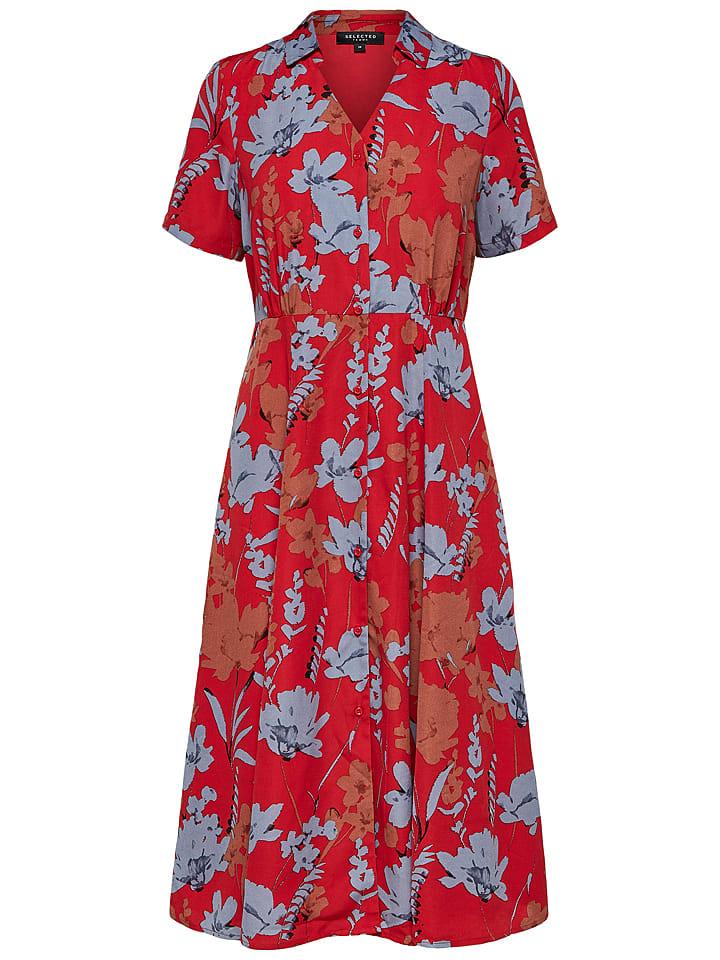 pretty nice 8cf34 79d8d Kleid in Rot/ Blau