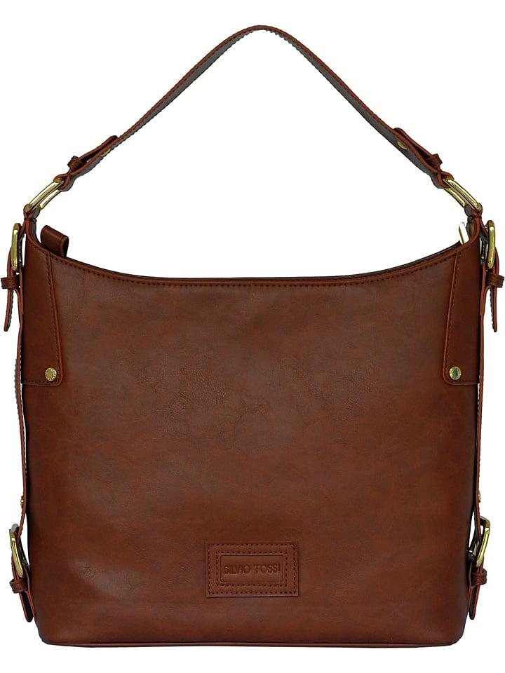 meilleur site web 4fe8c 08972 Sac porté épaule en cuir - marron - 33 x 33 x 11 cm