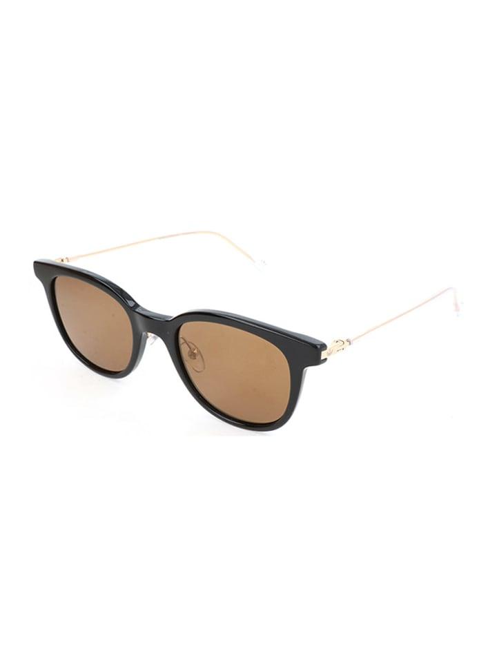 Kauf echt dauerhafte Modellierung Gute Preise Damen-Sonnenbrille in Schwarz-Gold/ Braun