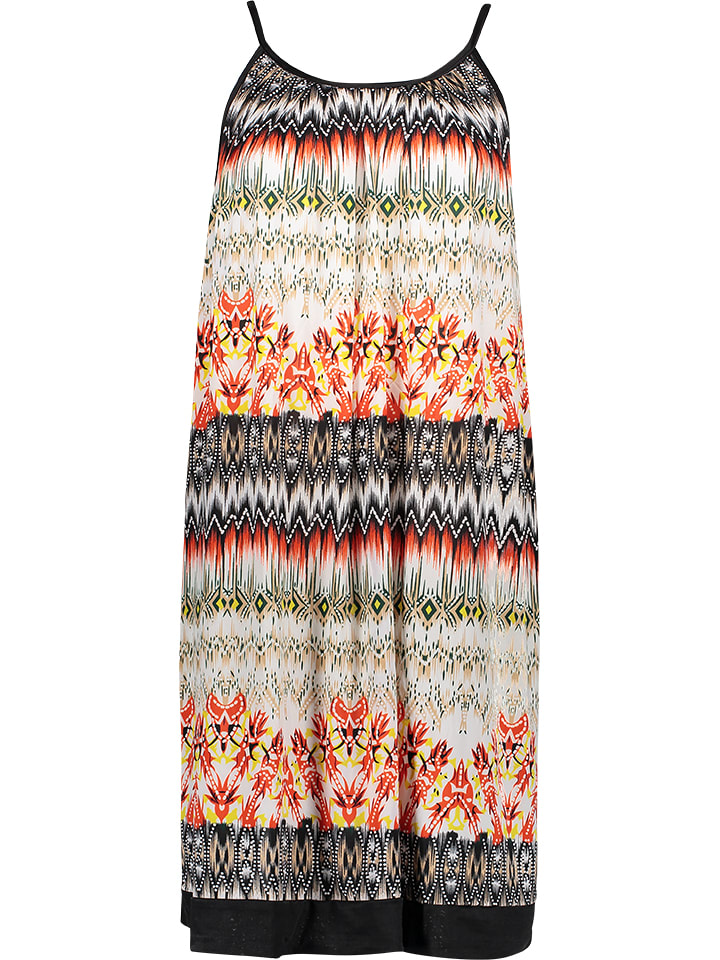 the latest 131a1 5af3b Kleid in Orange/ Gelb/ Schwarz