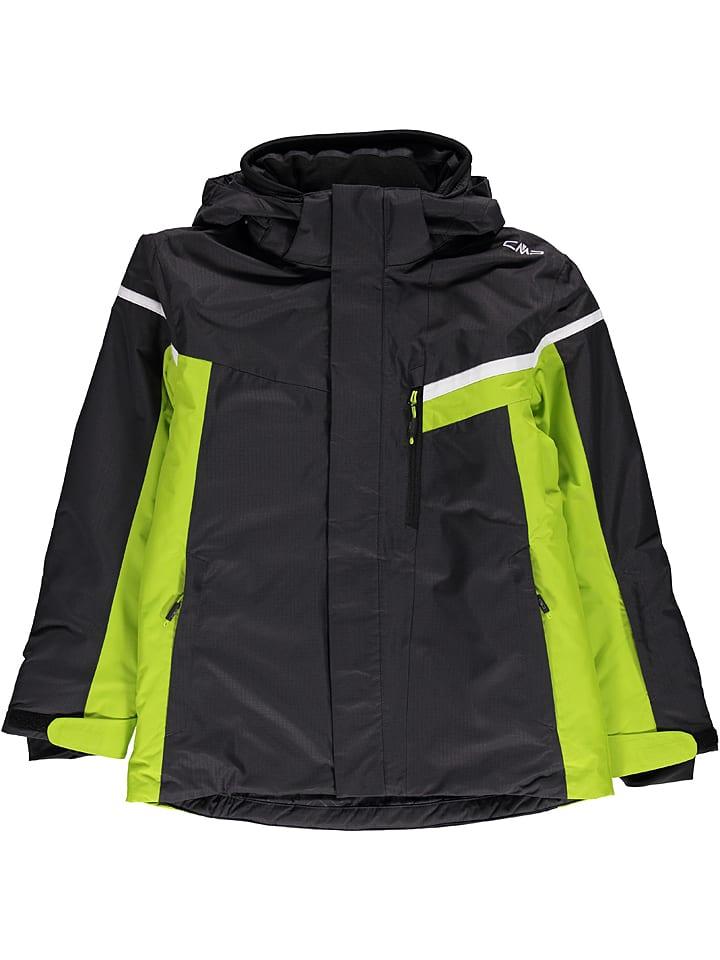 Kurtka narciarska w kolorze czarno zielonym