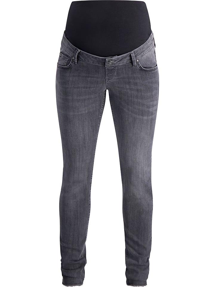 Queen Mum Jeans Skinny Fit grey denim