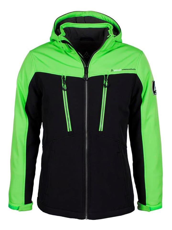 Softshellowa kurtka narciarska w kolorze czarno zielonym