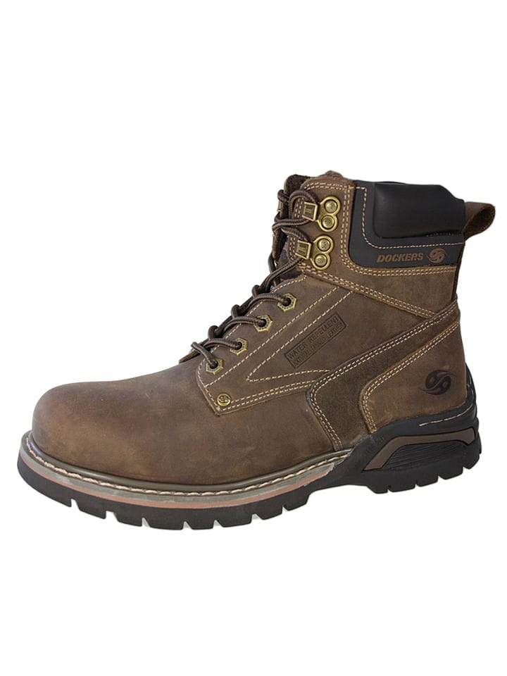 Leder Boots in Hellbraun