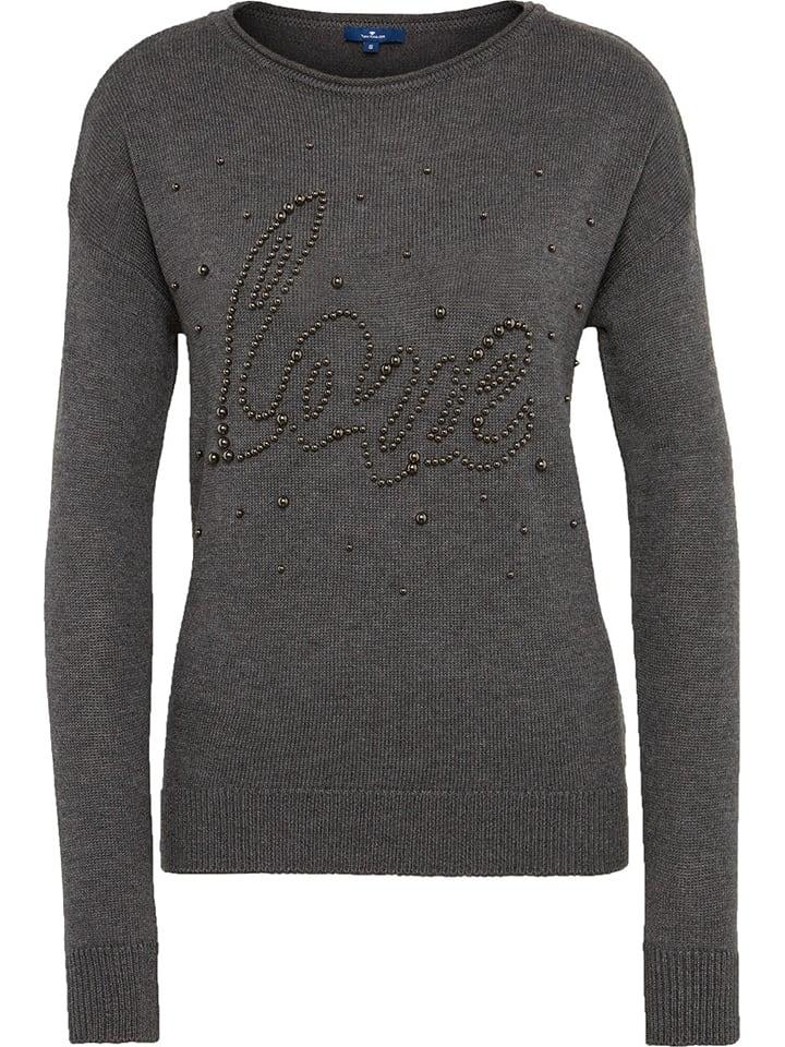 Tom Tailor sweatshirt Antraciet-m