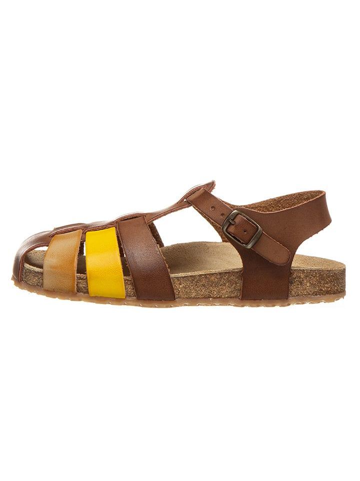 Billowy Sandały w kolorze musztardowym najlepsze