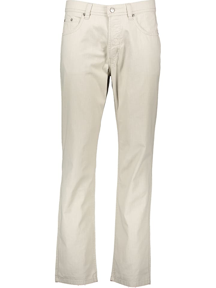 Broek regular fit beige