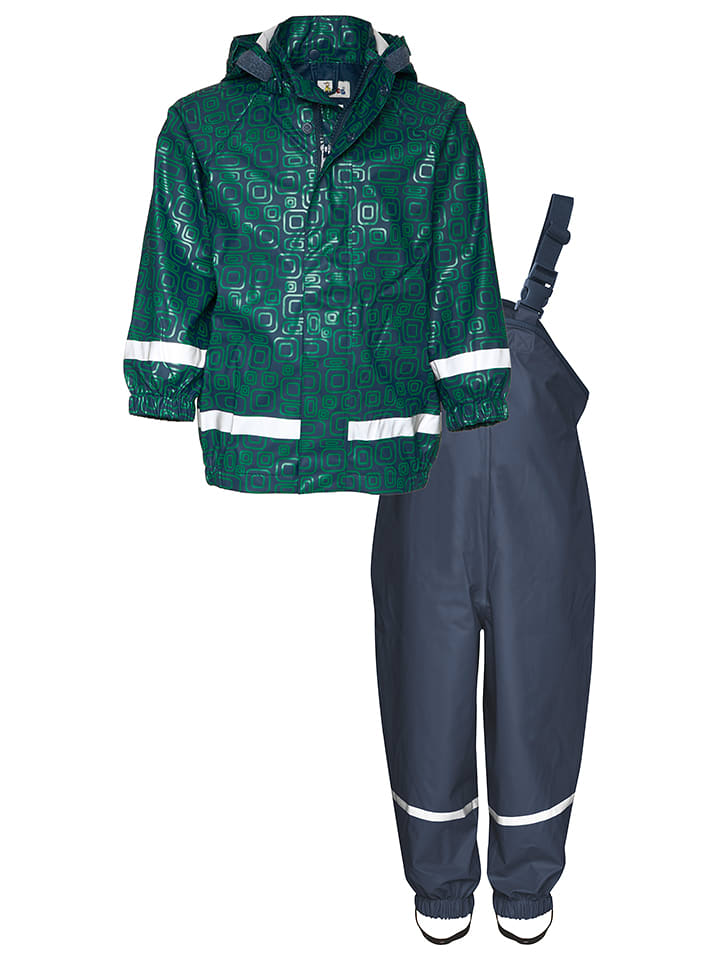 Playshoes 2-delige regenoutfit donkerblauw