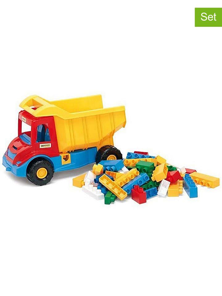 Wader 2-delige set: truck met bouwstenen - vanaf 12 maanden