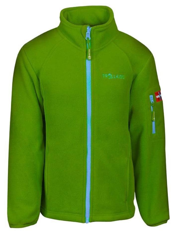 "Trollkids Fleece vest ""Arendal"" groen/lichtblauw"