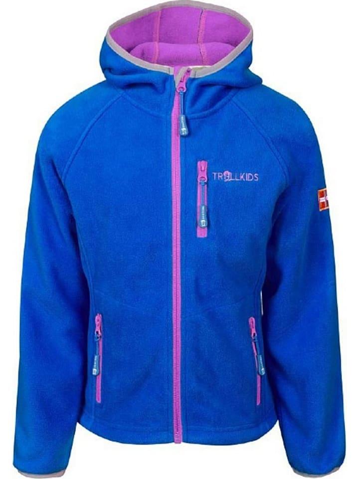 """Trollkids Fleece vest """"Borgund"""" blauw/roze"""