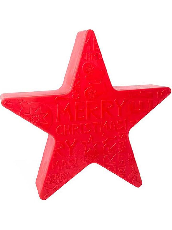 """8 seasons Dekoracyjna lampa """"Shining Star Mini"""" w kolorze czerwonym - wys. 40 cm"""