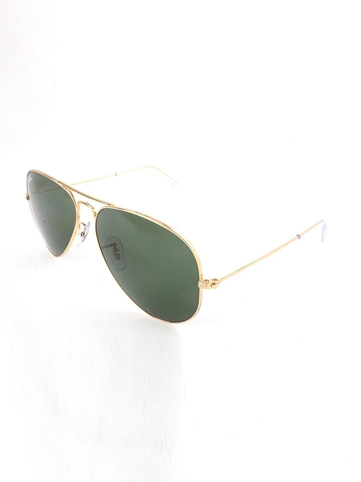 Ray Ban Herren-Sonnenbrille Aviator in Gold - 19% | Größe 58 | Herren sonnenbrillen