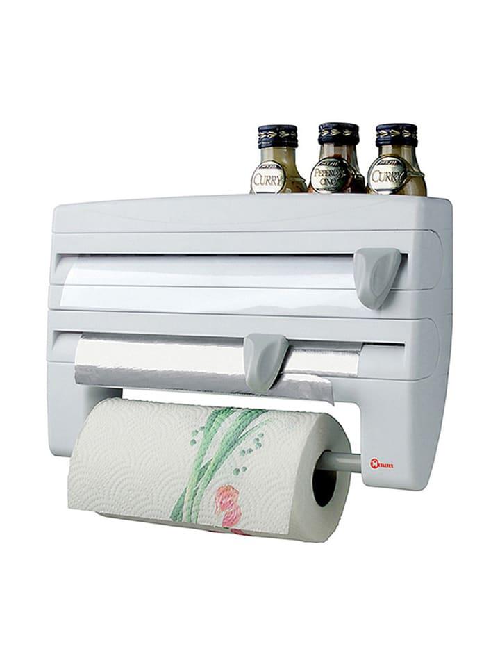 """Metaltex Podajnik kuchenny """"Roll'n Roll"""" w kolorze białym - (S)25 x (W)39 x (G)10 cm"""