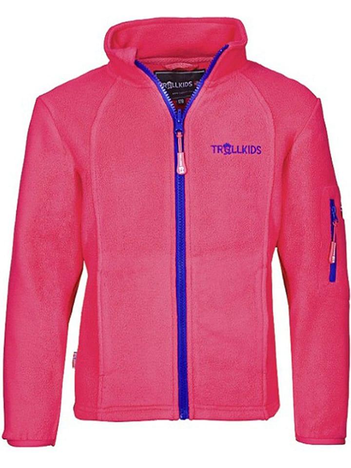 "Trollkids Fleece vest ""Arendal"" roze/paars"
