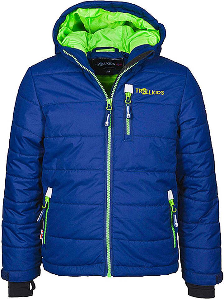 "Trollkids Ski-/snowboardjas ""Hemsedal"" blauw/lichtgroen"