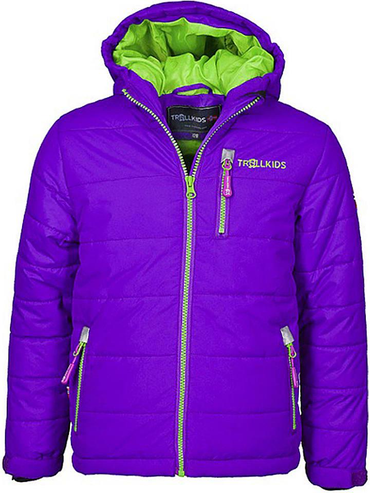 "Trollkids Ski-/snowboardjas ""Hemsedal"" paars/lichtgroen"