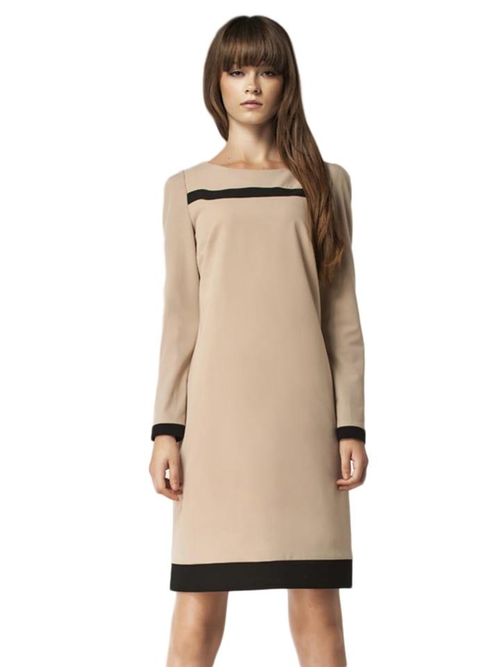 Nife Sukienka w kolorze beżowo-czarnym
